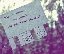 Tener una sonrisa y compartirla  con el resto del mundo