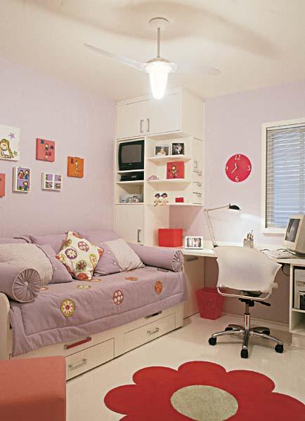 Casinha Bonitinha 15 quartos de menina tudo  ~ Quarto Simples E Bem Organizado