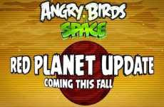 Nueva versión de Angry Birds Space Red Planet Angry Birds Space en Marte