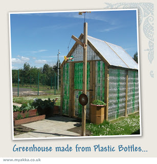 plastic bottle greenhouse upcycled