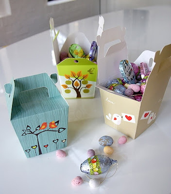 Easter boxes by Red Lilly