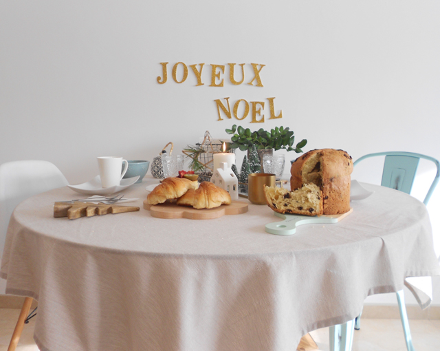 Decoracion mesa desayuno Navidad