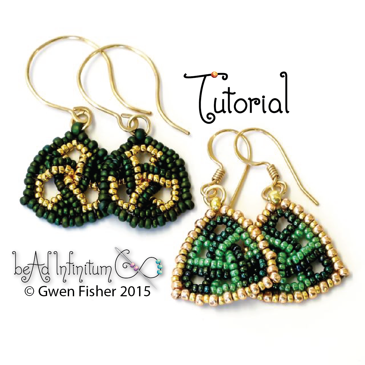 Trefoil Triangle Earrings