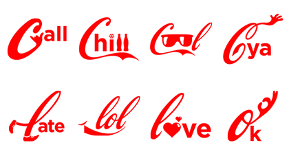 line stickers say it with coca cola free download