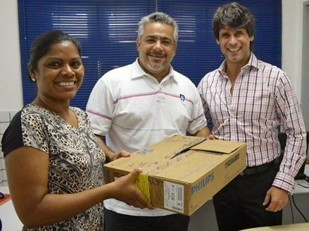 Rita, Marcelo e Fernando Lessa