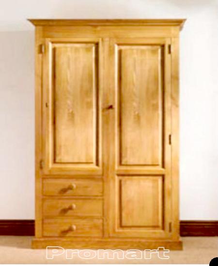 Tủ quần áo gỗ sồi kiểu Mottis 2 cánh 3 ngăn kéo