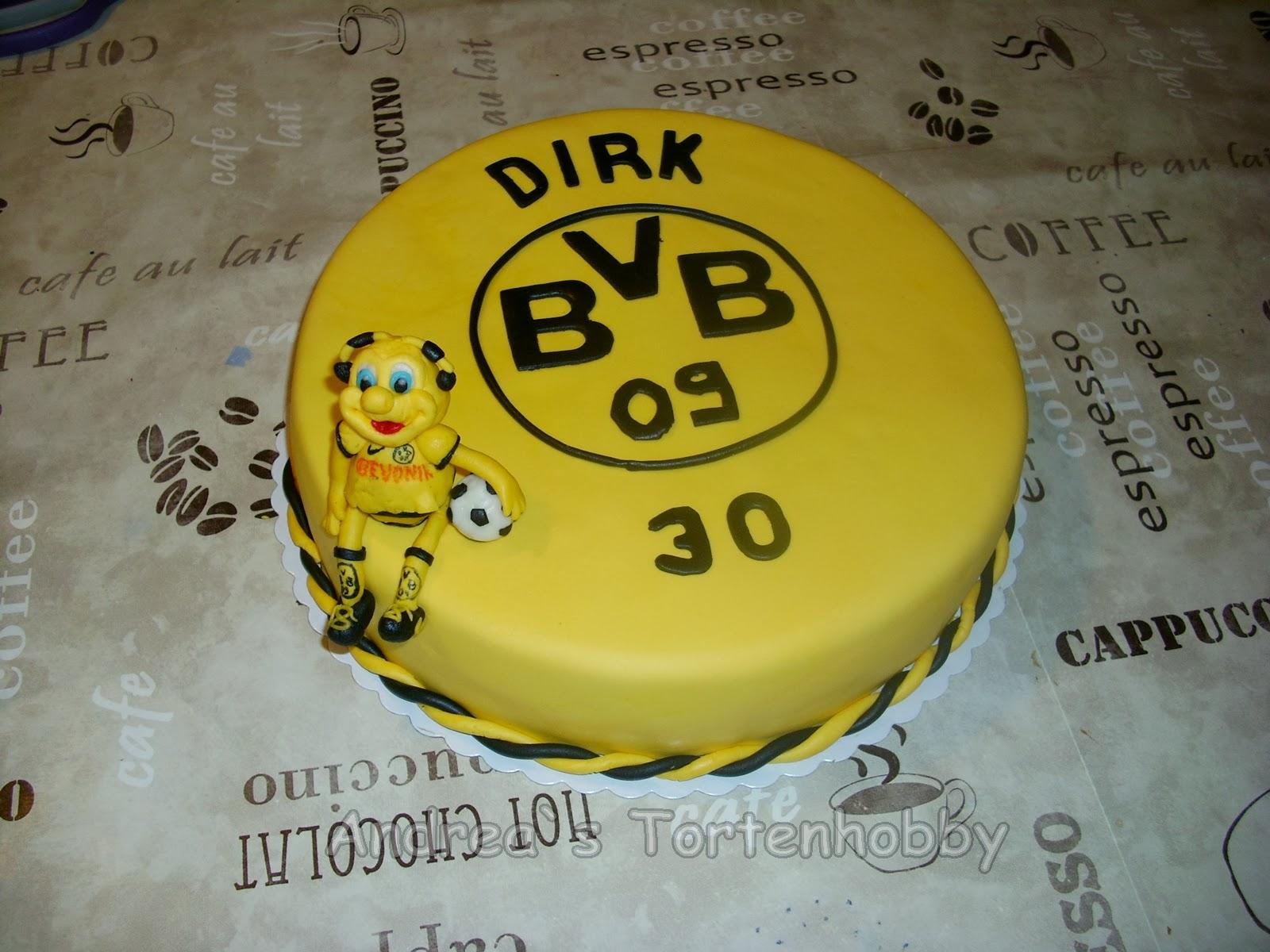Andrea s tortenhobby bvb torte for Kuchen dortmund