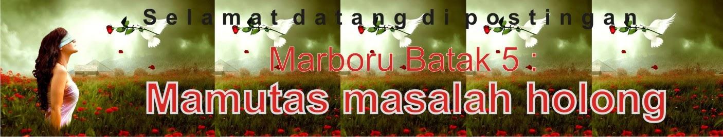 Marboru Batak 5 : Mamutas masalah holong