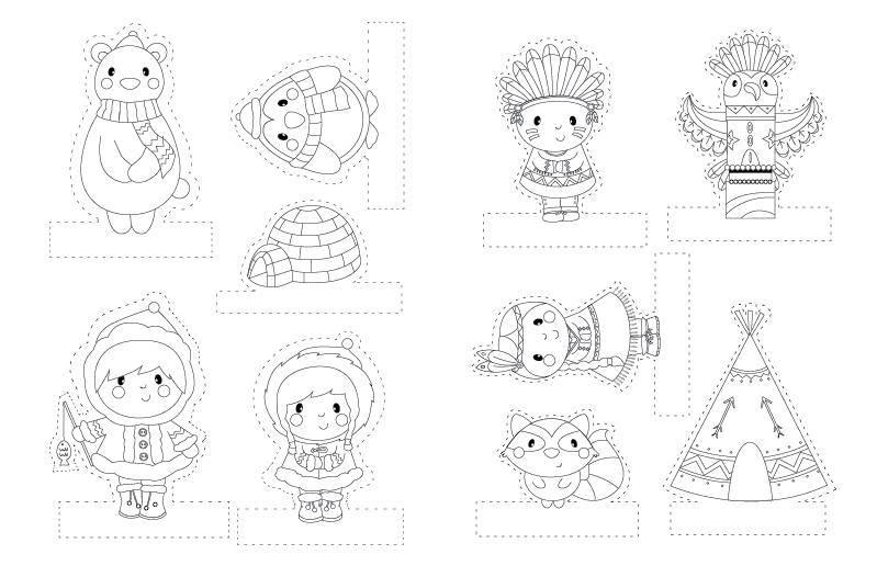 Lovely marionnettes a doigts a imprimer 8 marionnette doigt en papier - Marionnettes a doigts a imprimer ...