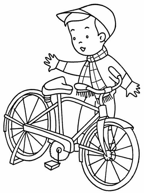 riding a bike coloring pages - photo#26