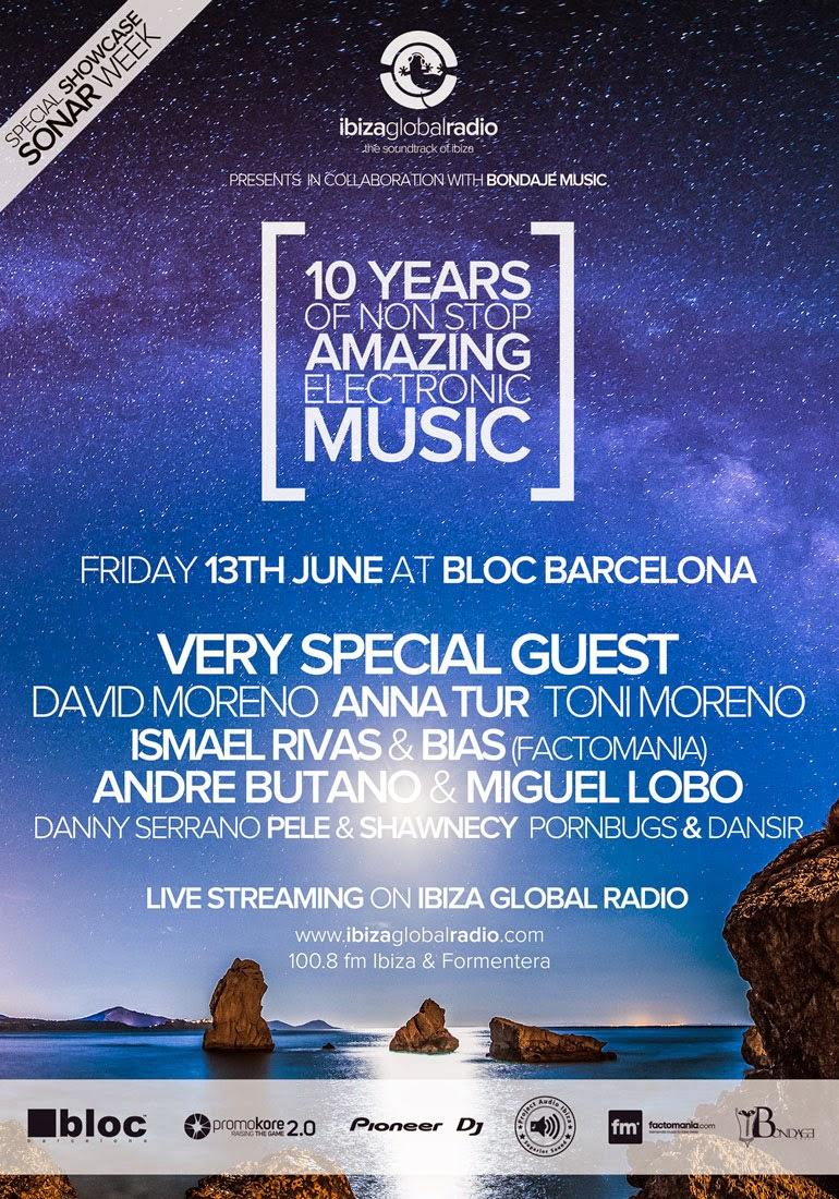 ibiza global radio, barcelona, radio, 10 años, sala bloc barcelona, música electrónica