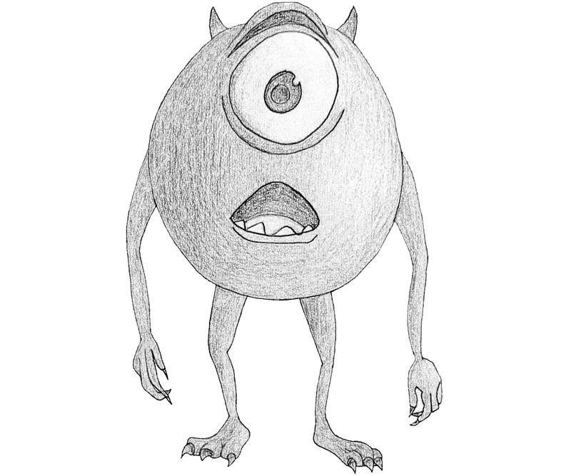 monsters inc mike wazowski cute