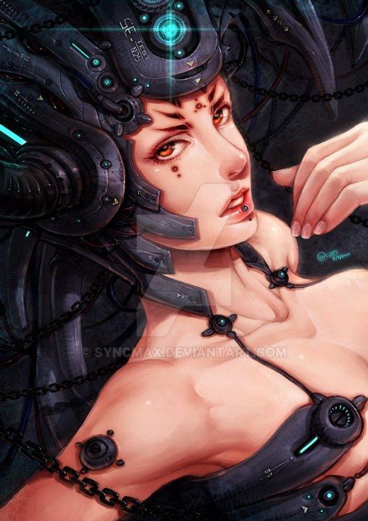 Zhenya Chung syncmax deviantart ilustrações fantasia ficção científica mulheres