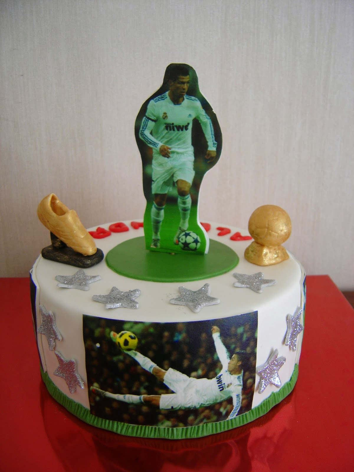 D 39 azucar tarta cristiano ronaldo real madrid for Correo real madrid