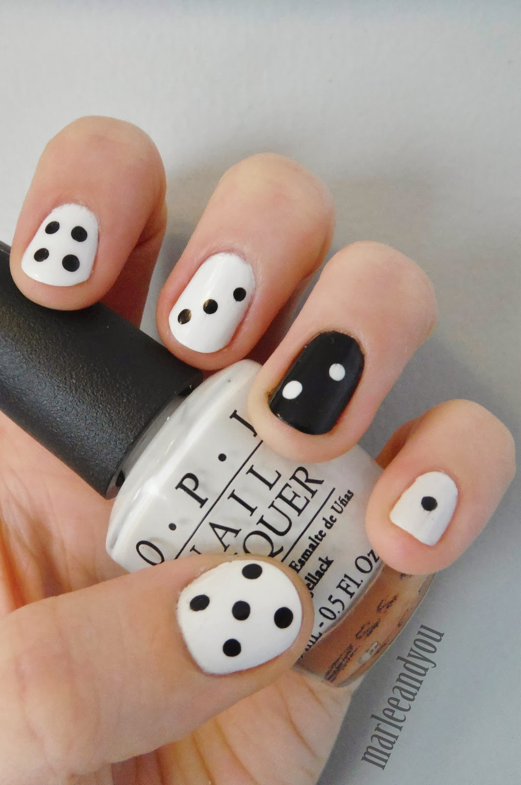 dice nail art | marlee and you