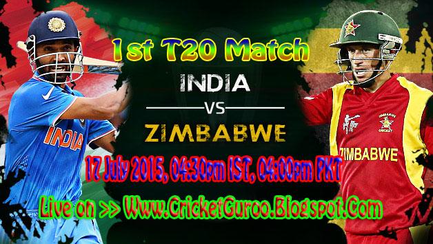 India vs Zimbabwe 1st T20 Live Streaming