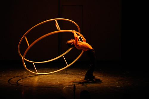 Julien à la roue allemande - Crédit David Poulain