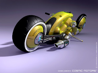 Modelo 3d prototipo de motocicleta futurista