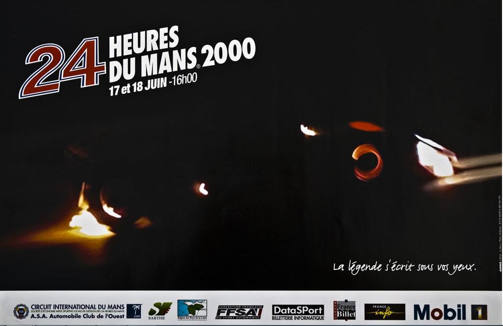 Affiche officielle des 24 Heures du Mans 2000