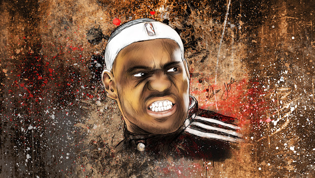 Free Download Lebron James HD Wallpapers for iPhone 5 02