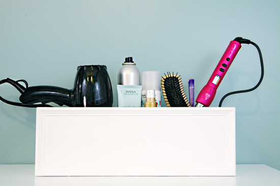Hair Styling Equipment: IHeart Organizing: DIY Hair Tool Organizer