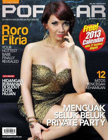 hot Roro Fitria for Popular World Magazine, January 2013
