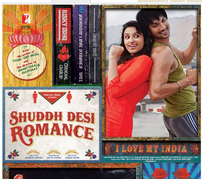 New release hindi movies Shuddh Desi Romance 2013 download and its movie time