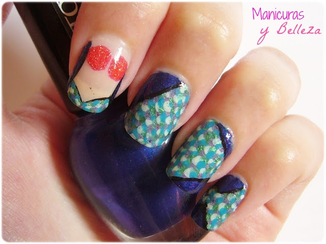 manicura sirena mermaid nails nail art summernails escamas