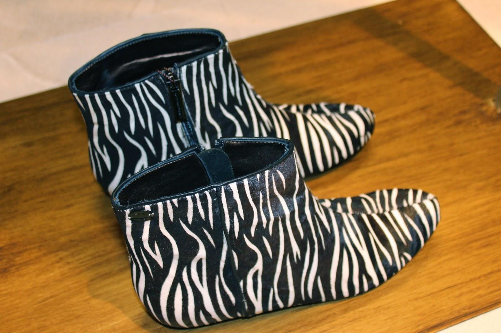 botines estampado cebra