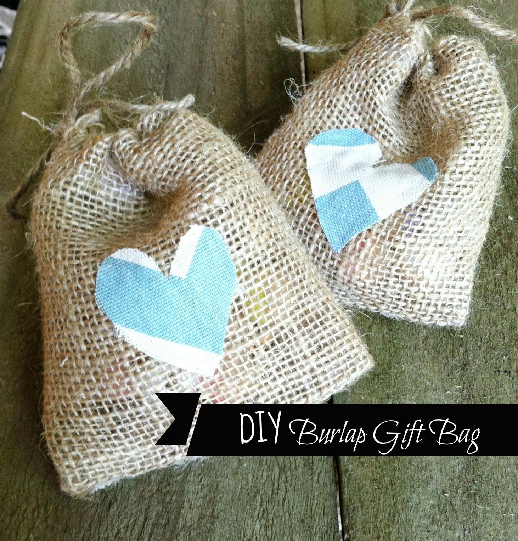 No Sew Burlap Gift Bag Diy Tutorial
