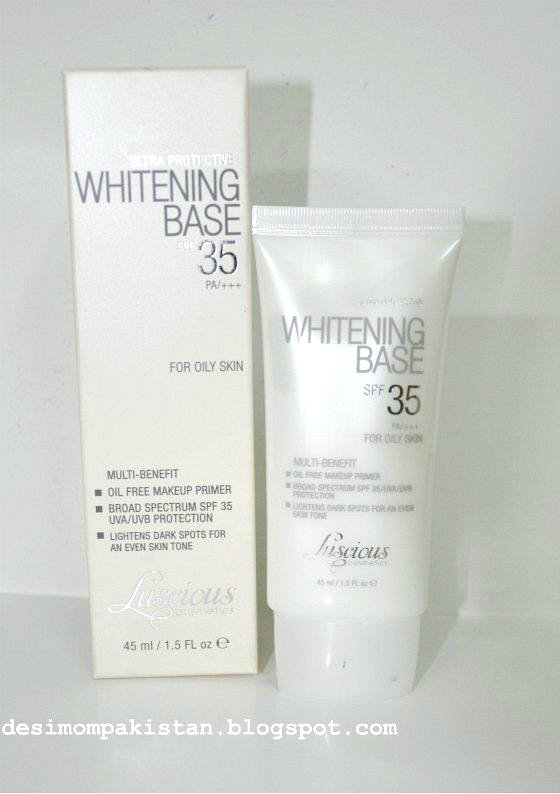 LUSCIOUS WHITENING BASE FOR OILY/COMBINATION SKIN tube and carton