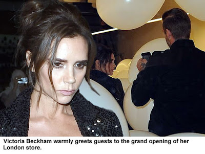 Victoria Beckham big smile happy