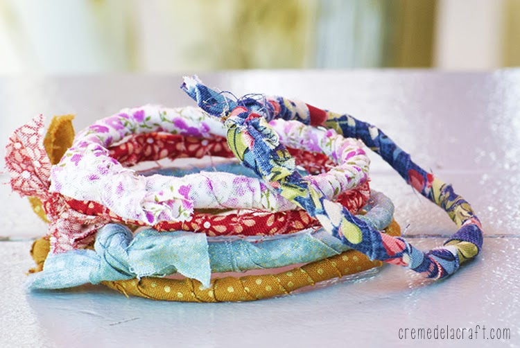How to make bracelet diy craft project idea upcycle hanger fabric
