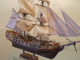 wooden ship model of a pirate ship