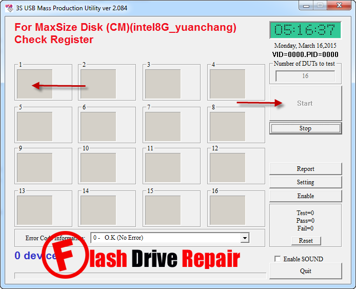 3S USB Mass Production Utility ver 2.084