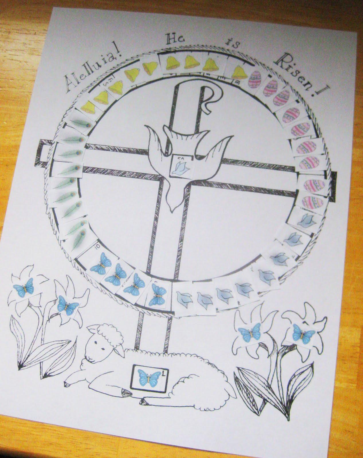 Calendar Easter : Wee little miracles easter calendar free printables