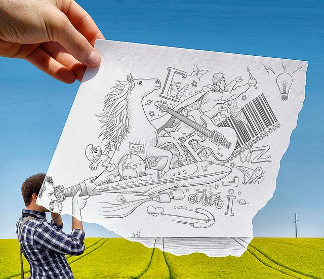 写真とイラストを混ぜたBen Heineのアート作品!