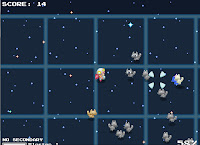 Endless Nuclear Kittens: zdjęcie z gry obrazujące atak kotów