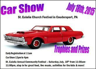 7-18 Car Show @St. Eulalia Festival