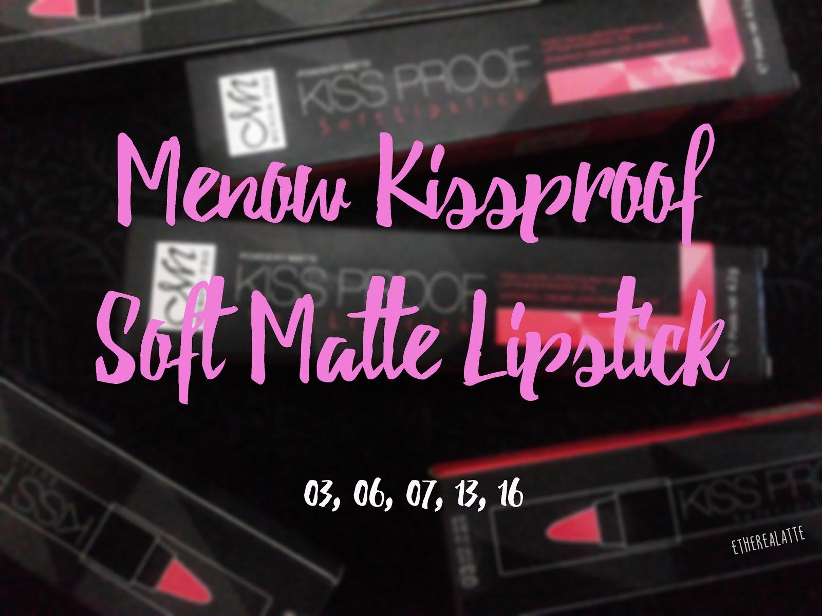 68 Review Menow Kissproof Soft Matte Lipstick Etherealatte Kiss Proof No16 Me Now Lipstik Banyak Yang Tergoda Sama Harganya Murah Dan Ketahanan Si Katanya Alias Gak Transfer Kemana Mana