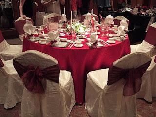 Decoracion de Bodas en Blanco y Rojo, parte 1