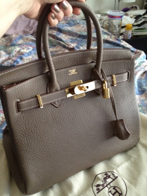 hermes mens wallets - Purse Princess: Replica Hermes Birkin 30cm Clemence Leather by ...