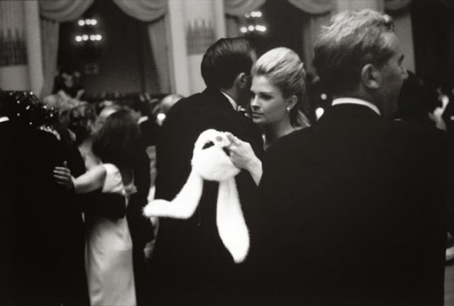 Candice Bergen holding Her Bunny Mask At Truman Capote's 1966 Ball
