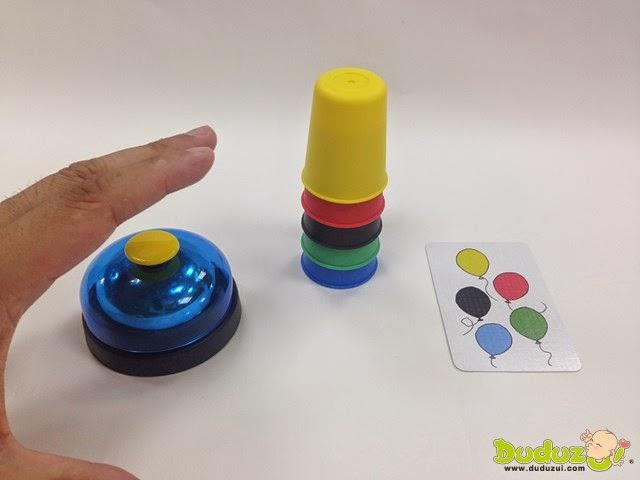 快手疊杯 Speed Cups 完成題卡指示顏色順序,趕快按鈴!