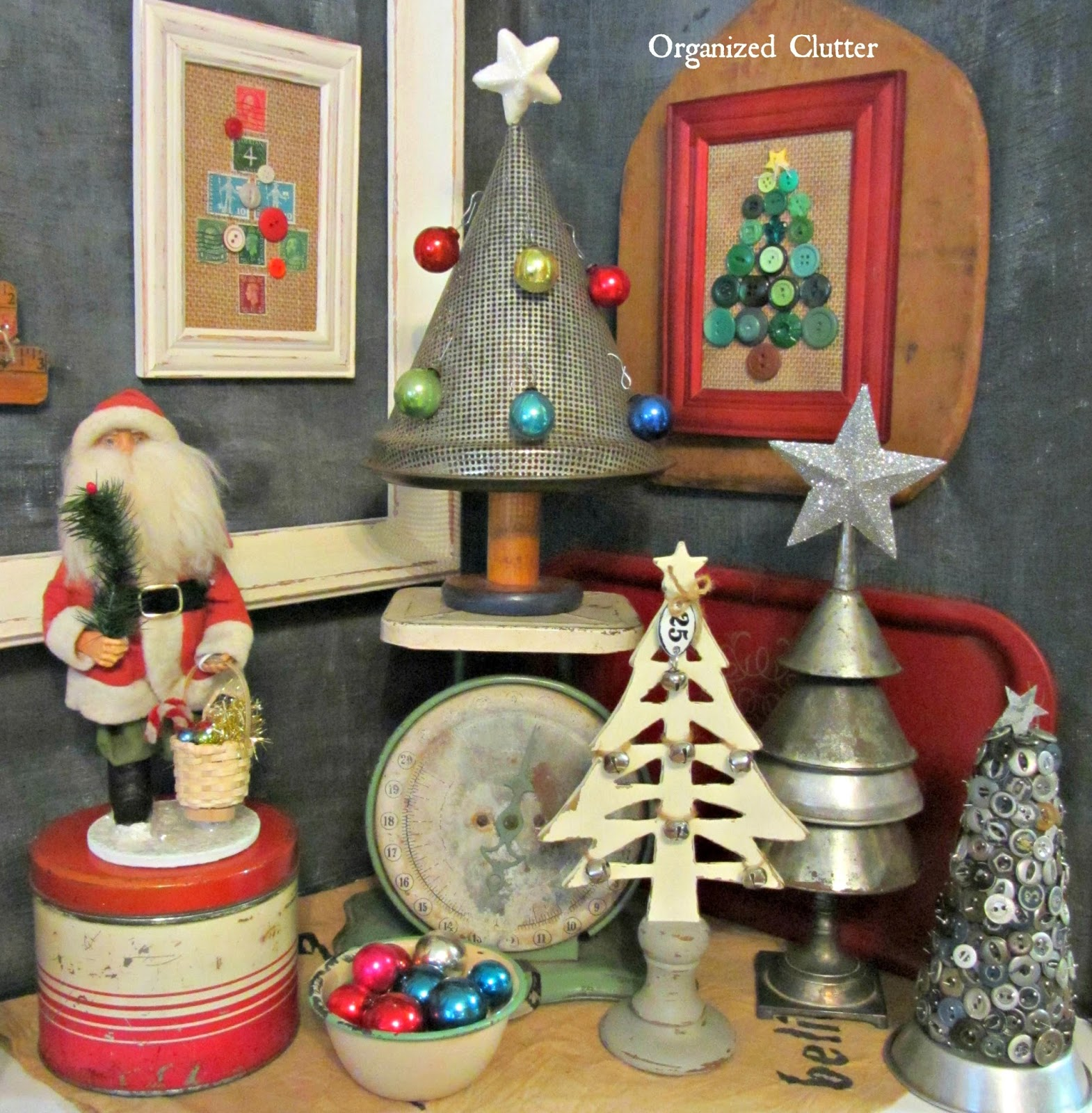 Alternative Rustic & Repurposed Christmas Trees www.organizedclutterqueen.blogspot.com