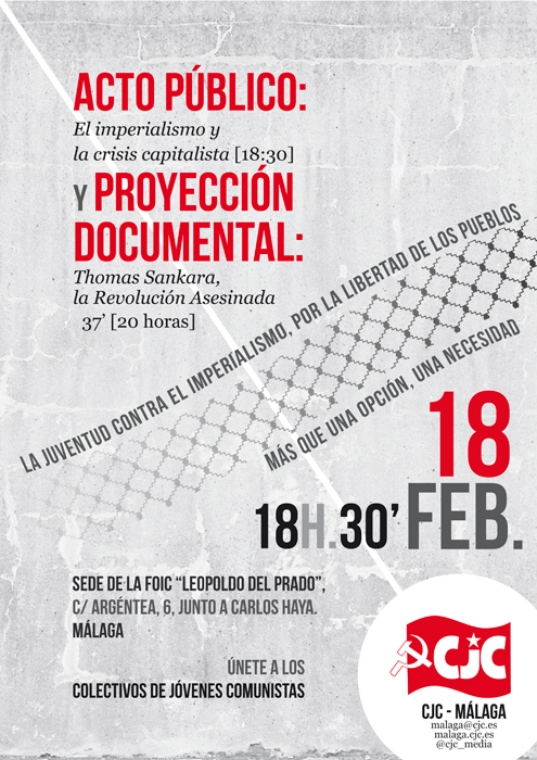 Málaga; Acto anti-imperialista en Málaga el sábado 18 Malaga