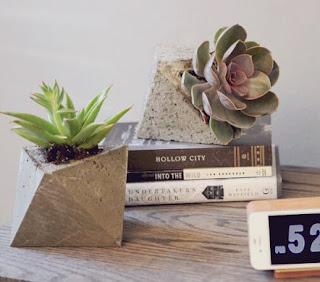 DIY, Maceteros Geometricos de Cemento