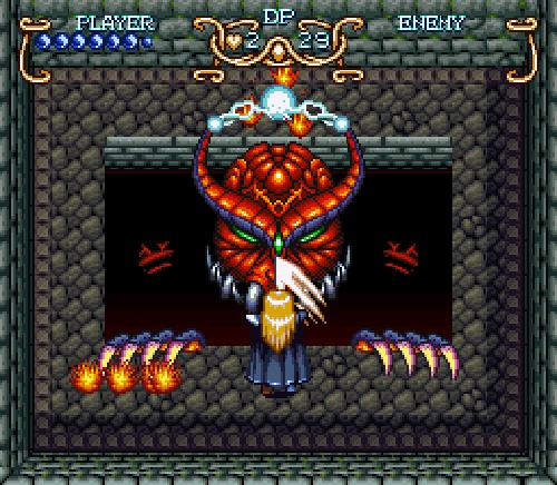 Illusion of Gaia: Freedan fights a boss