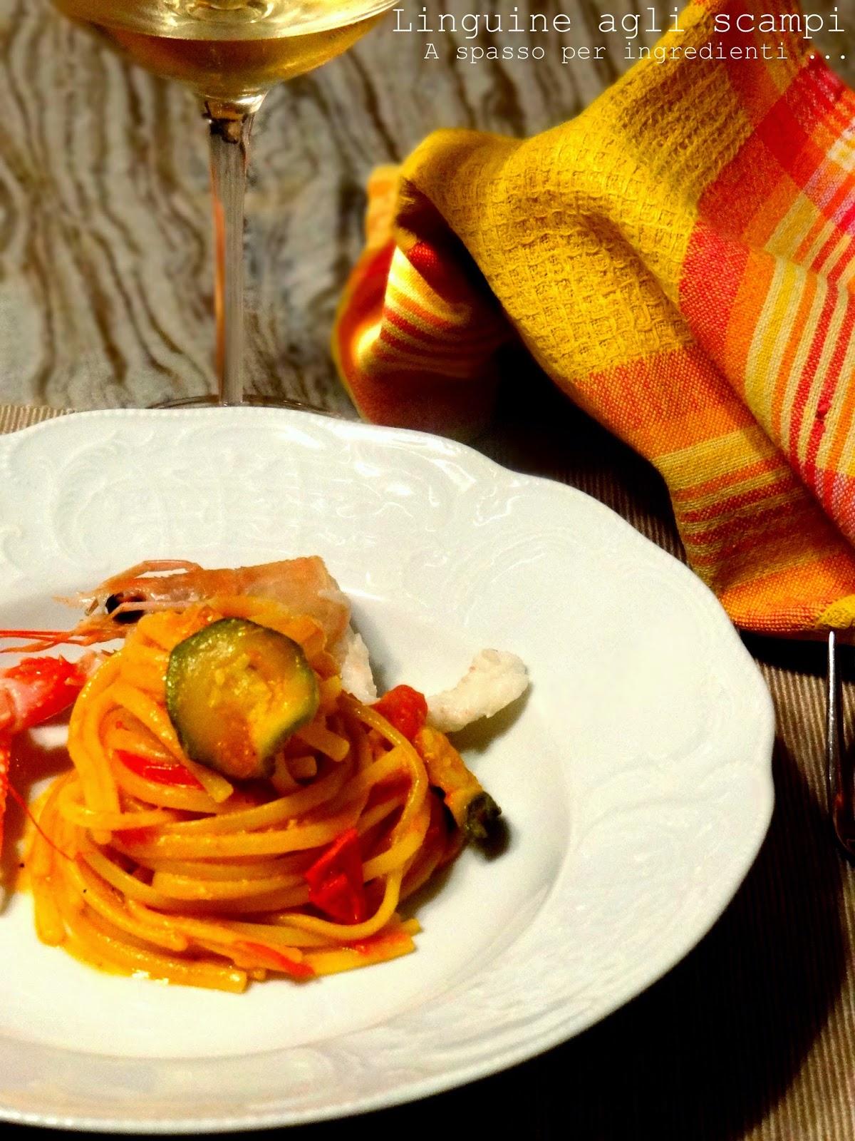linguine agli scampi, un amore di pasta