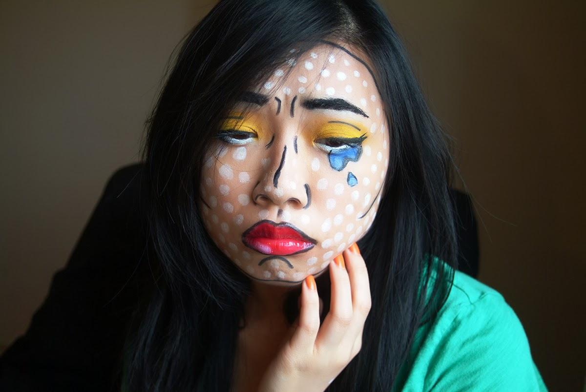 fun size beauty: HALLOWEEN: Pop Art Comic Makeup - Artistic Halloween Makeup